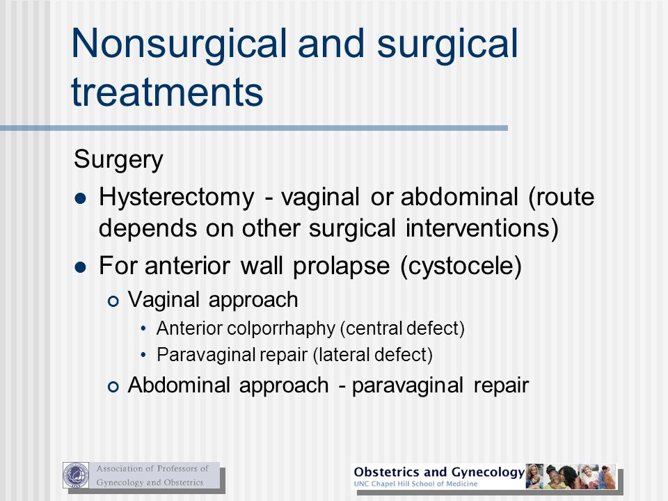 Nonsurgical and surgical treatments