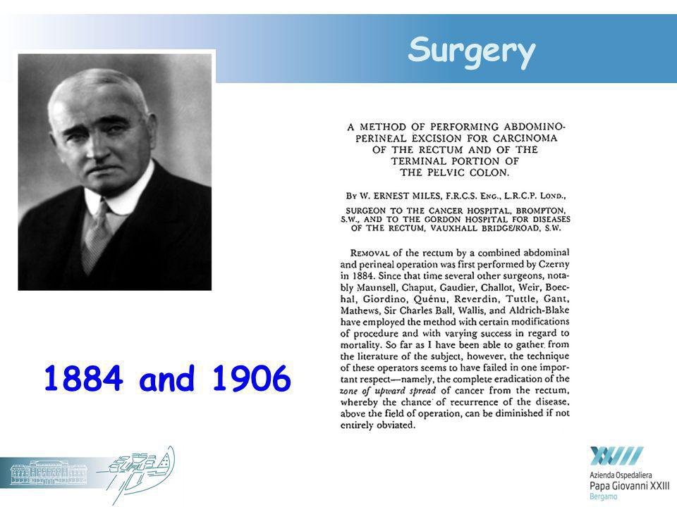 Surgery 1884 and 1906