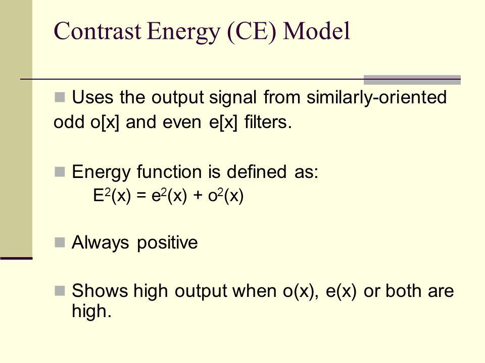 Contrast Energy (CE) Model