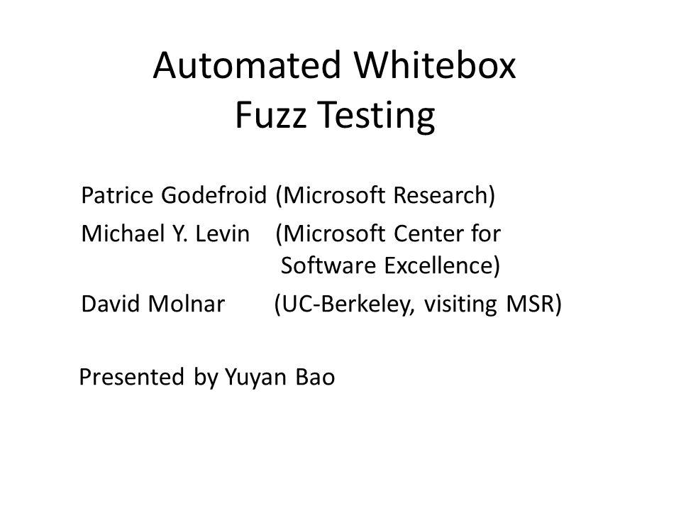 Automated Whitebox Fuzz Testing