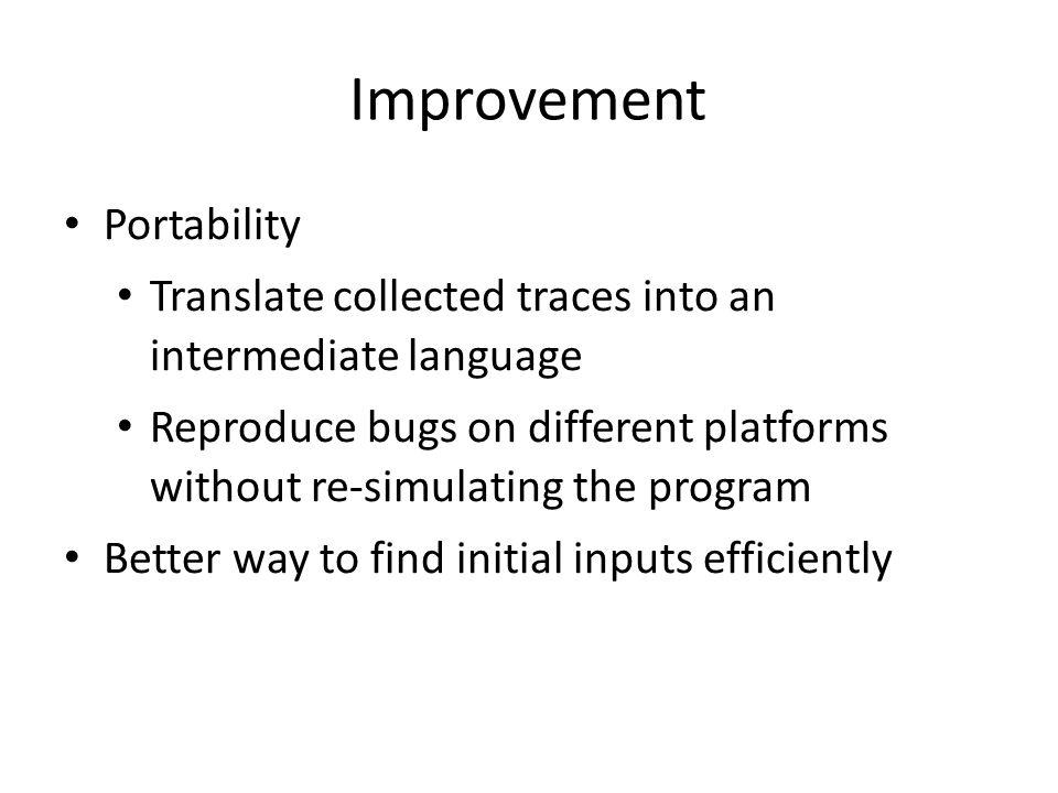 Improvement Portability