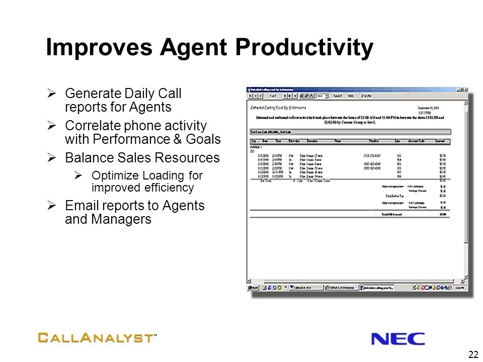 Improves Agent Productivity
