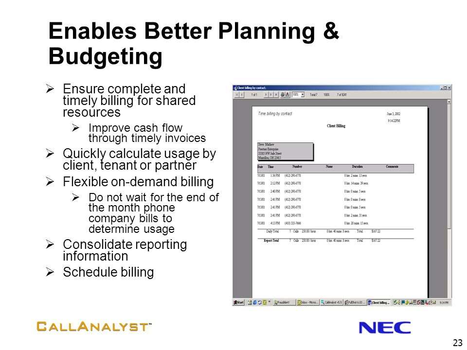 Enables Better Planning & Budgeting