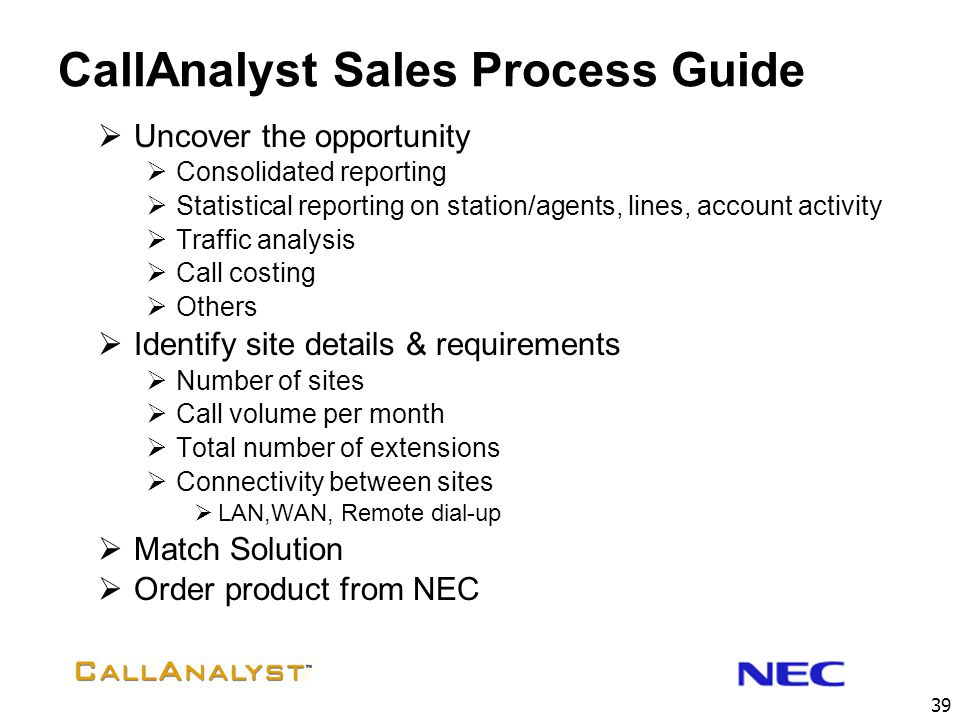 CallAnalyst Sales Process Guide