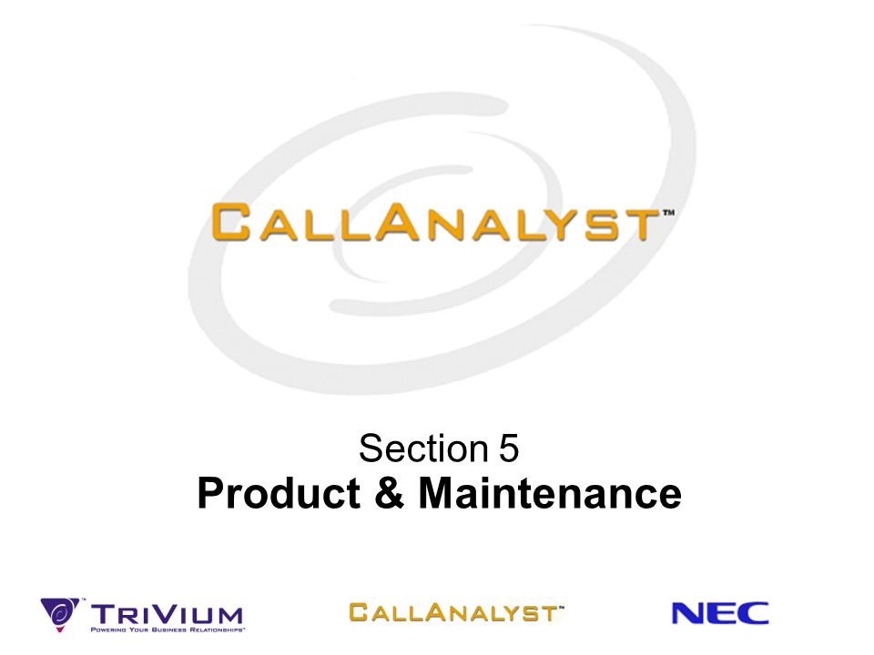 Section 5 Product & Maintenance