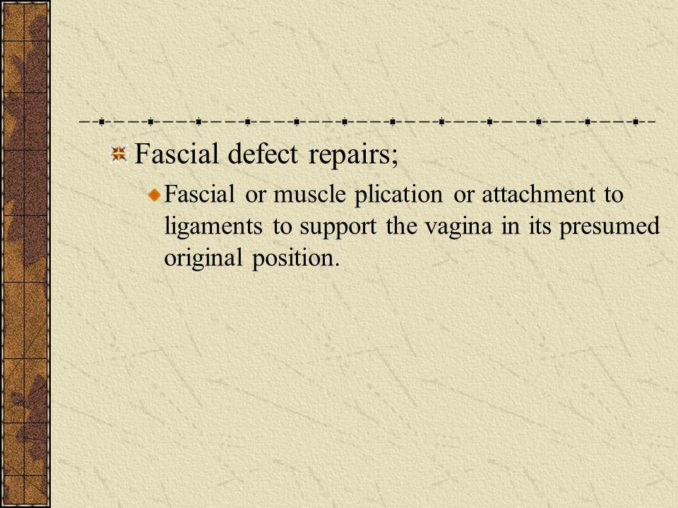 Fascial defect repairs;