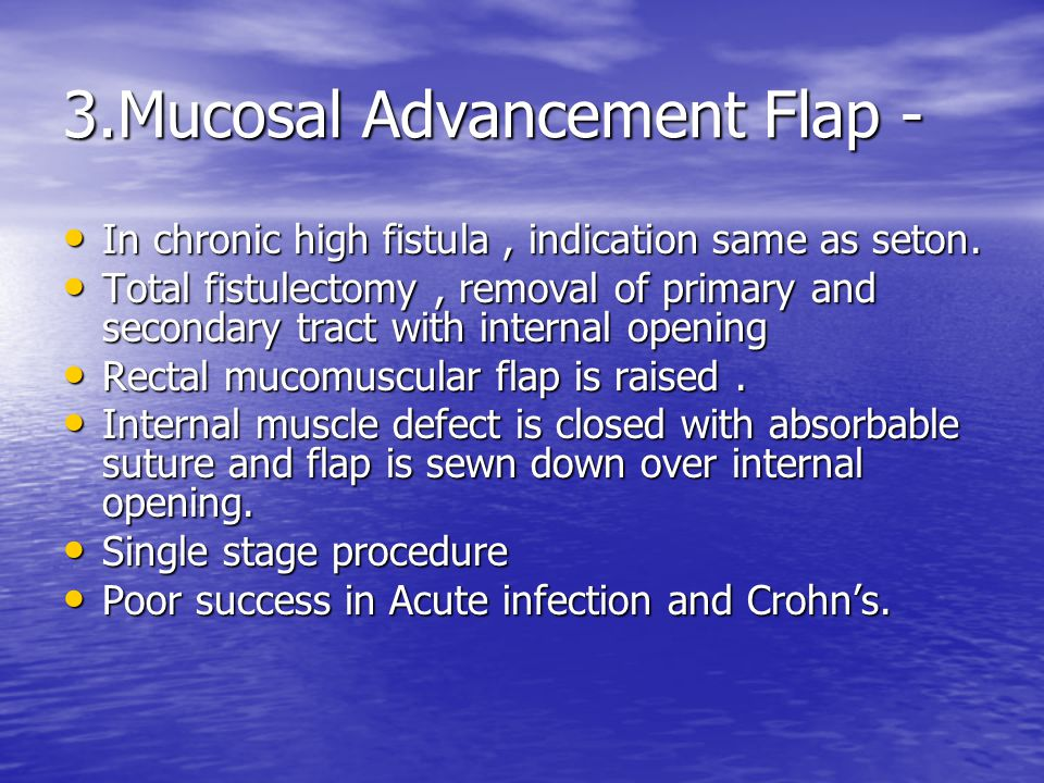 3.Mucosal Advancement Flap -