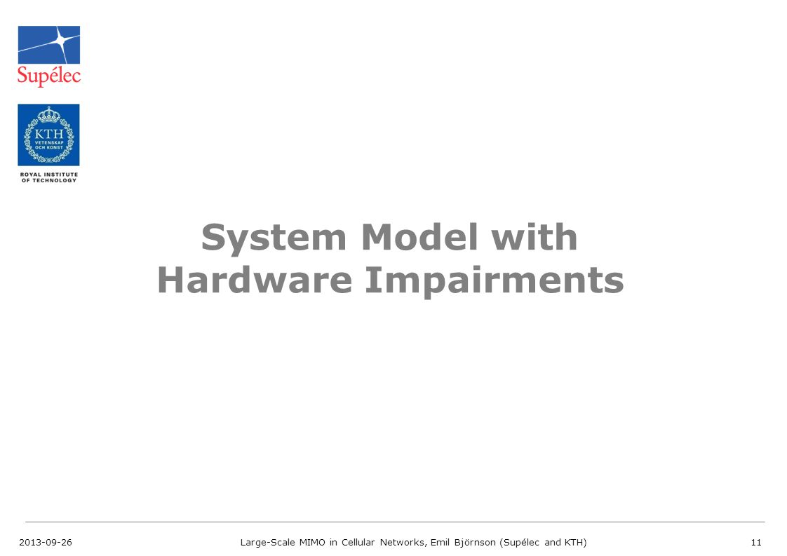 System Model with Hardware Impairments