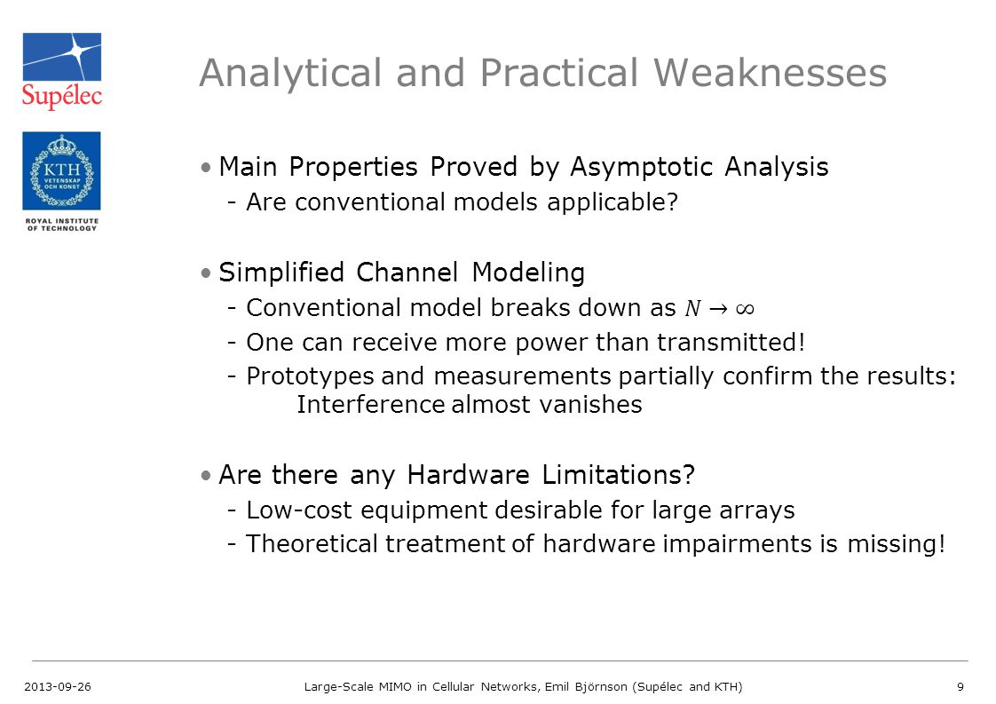 Analytical and Practical Weaknesses