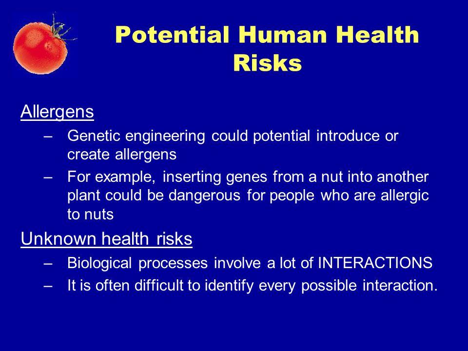 Potential Human Health Risks