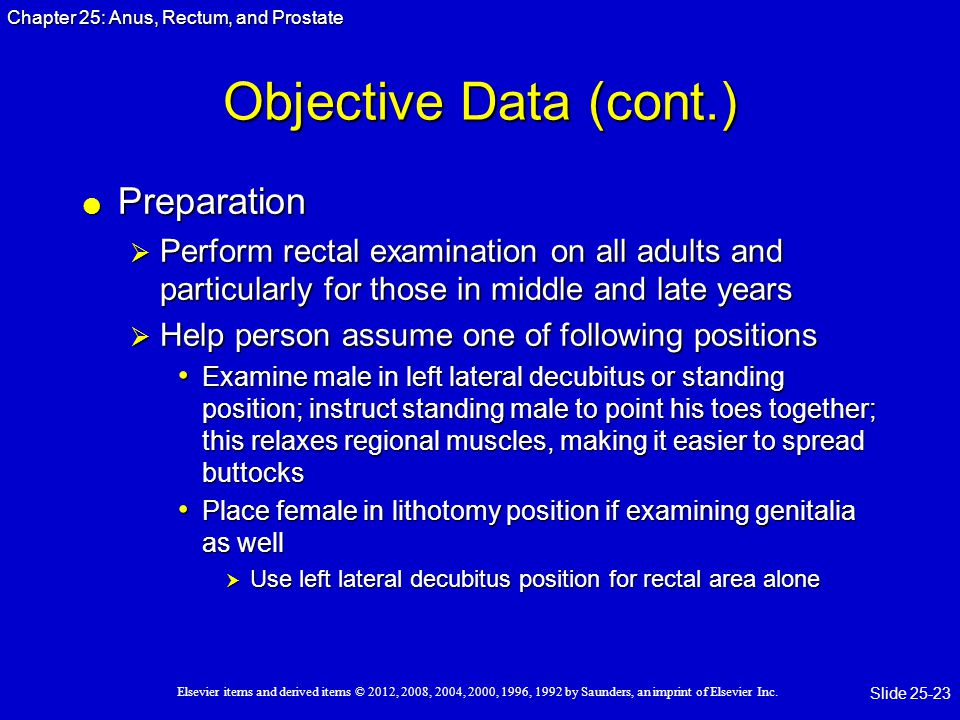 Objective Data (cont.) Preparation