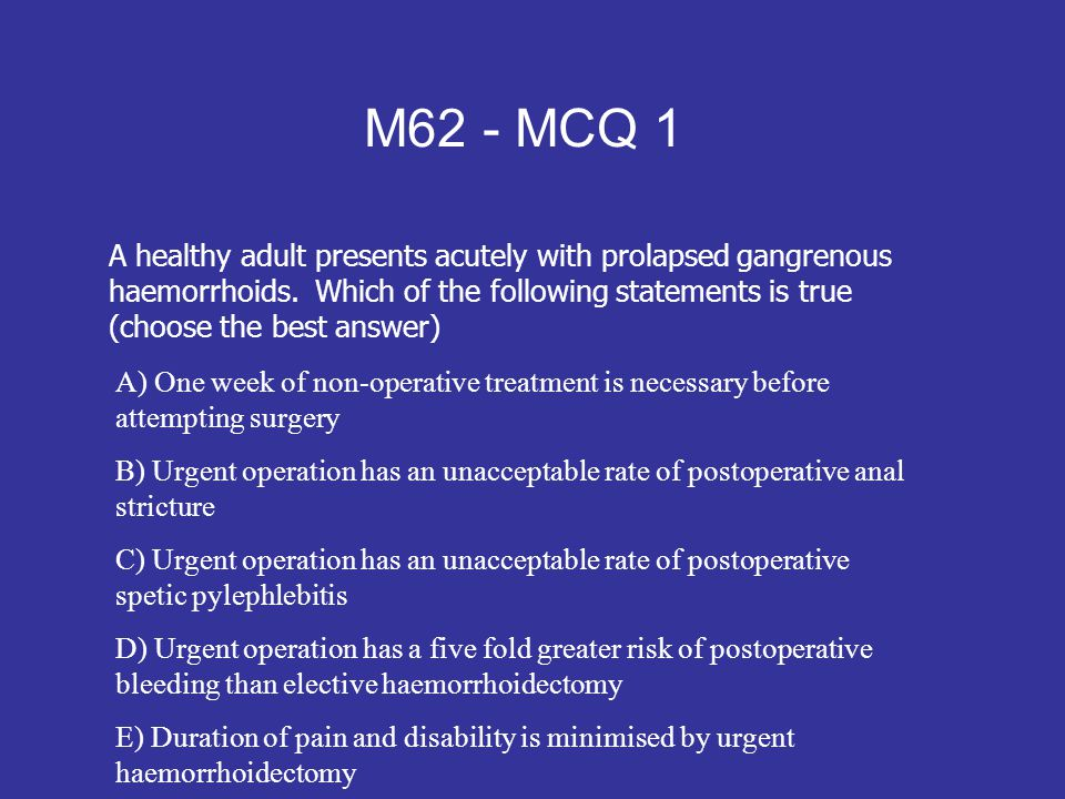 M62 - MCQ 1