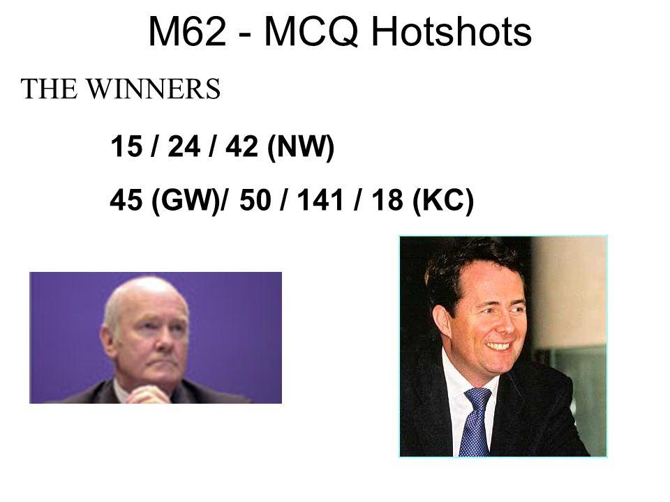 M62 - MCQ Hotshots THE WINNERS 15 / 24 / 42 (NW)