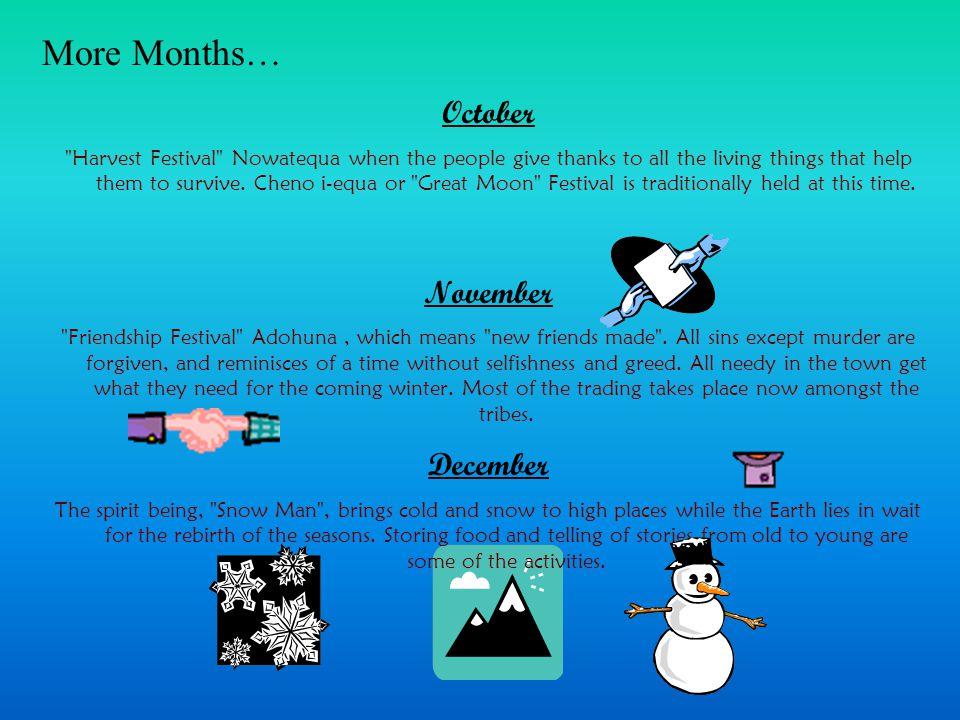 More Months… October November December