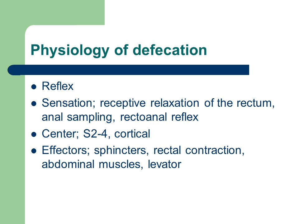 Physiology of defecation