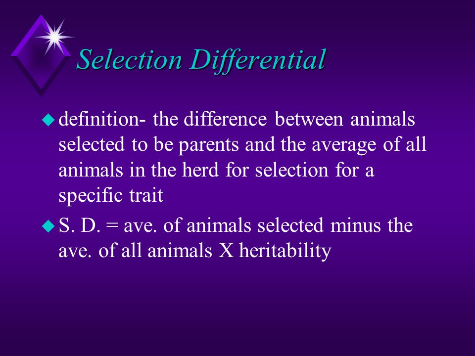 Selection Differential