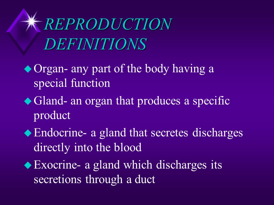 REPRODUCTION DEFINITIONS