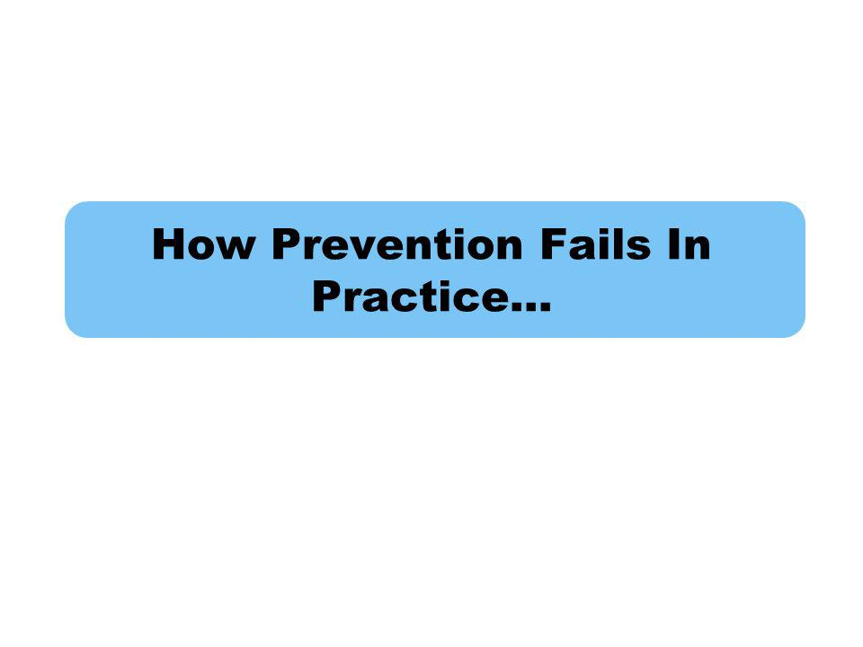 How Prevention Fails In Practice…