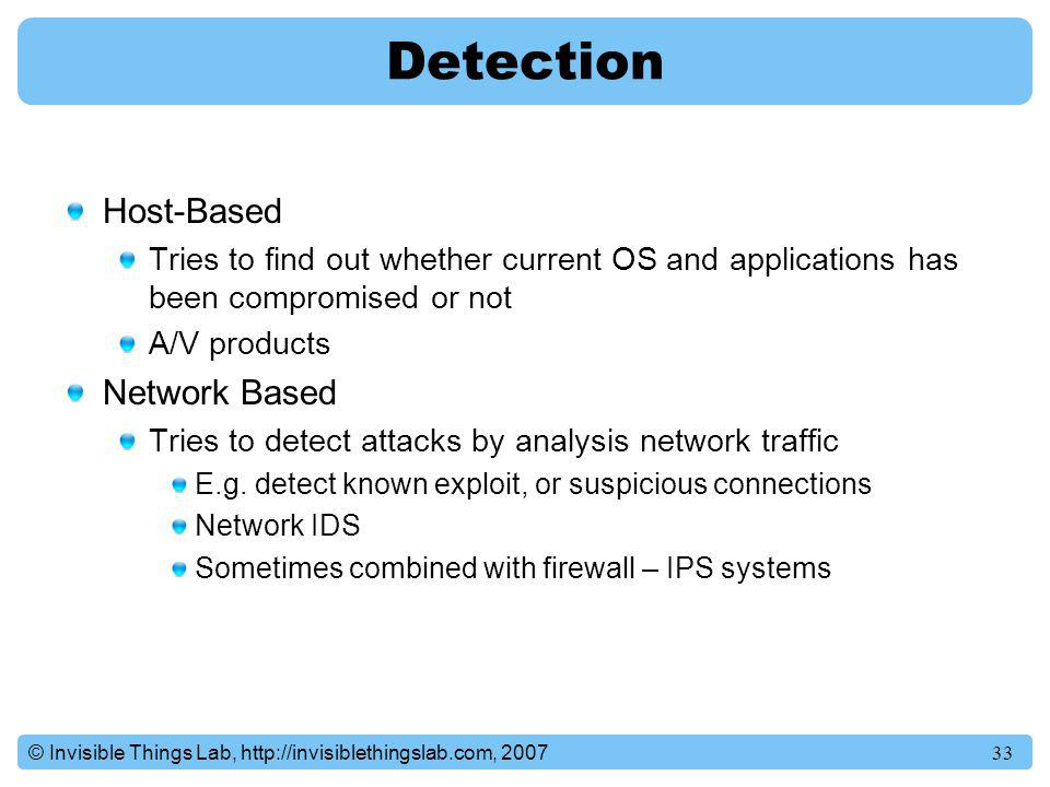 Detection Host-Based Network Based