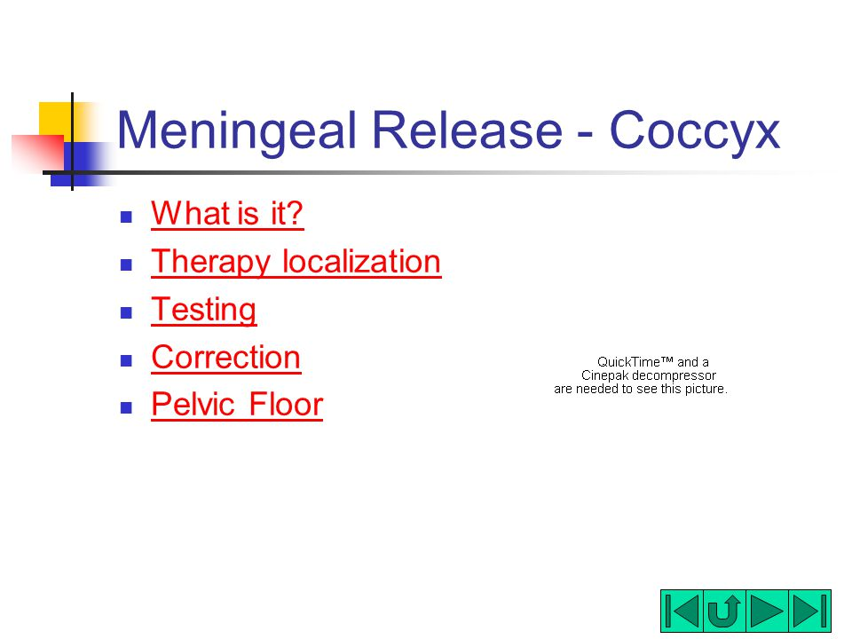 Meningeal Release - Coccyx