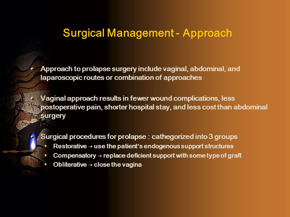 Surgical Management - Approach