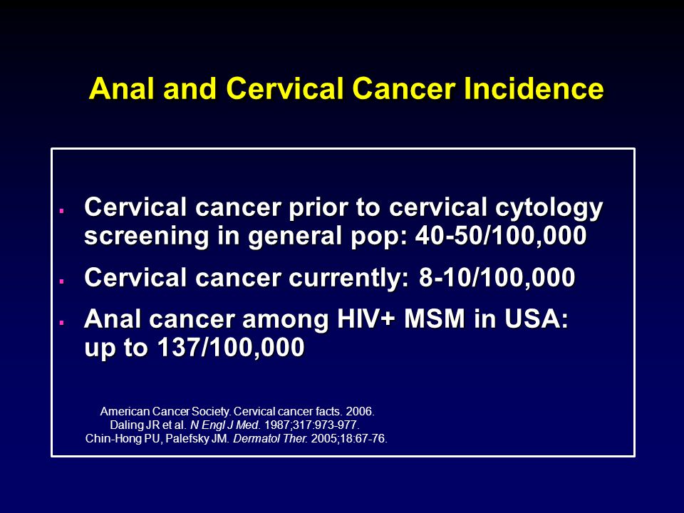 Anal and Cervical Cancer Incidence