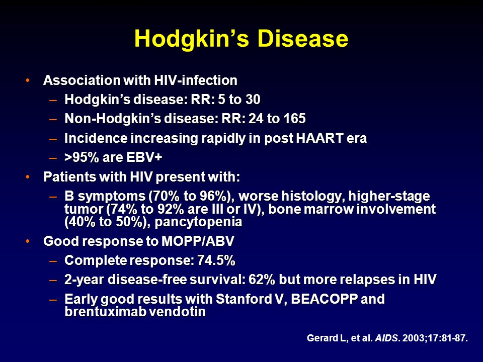 Hodgkin's Disease Association with HIV-infection