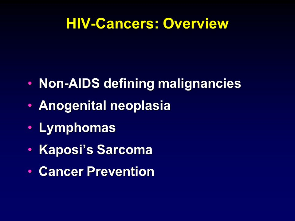 HIV-Cancers: Overview