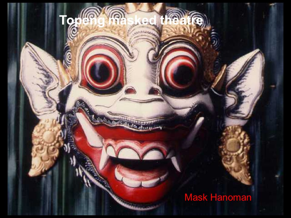 Topeng masked theatre Mask Hanoman