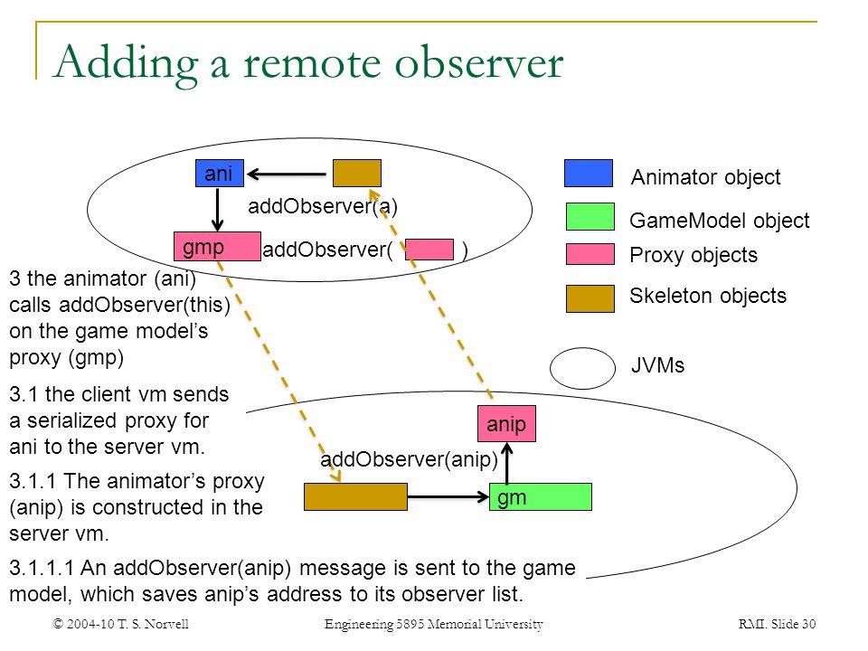 Adding a remote observer