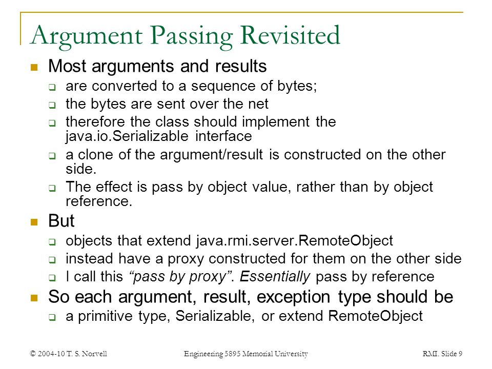 Argument Passing Revisited