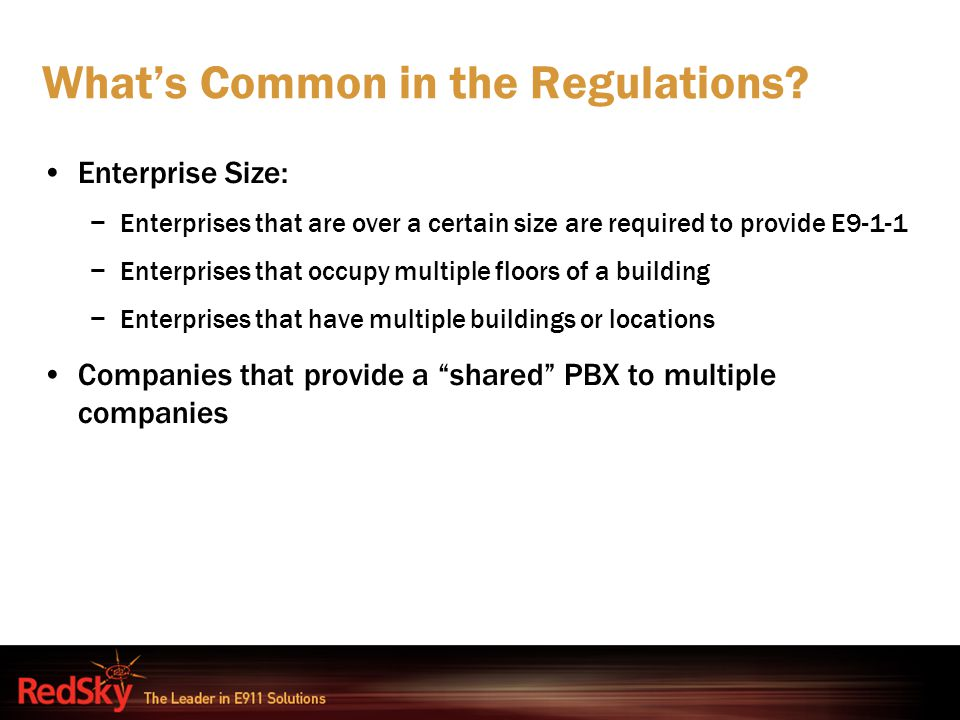What's Common in the Regulations