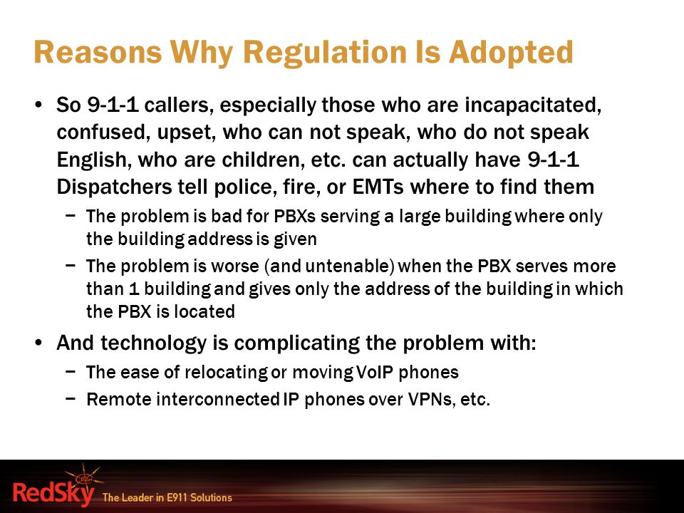 Reasons Why Regulation Is Adopted