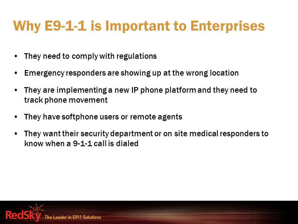 Why E9-1-1 is Important to Enterprises
