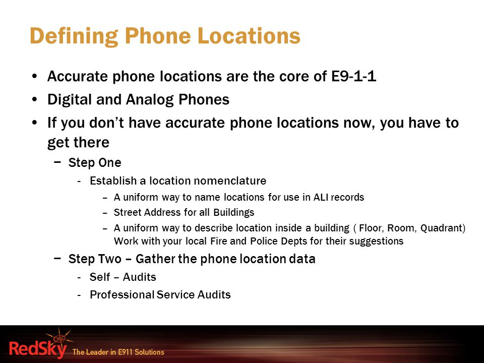 Defining Phone Locations