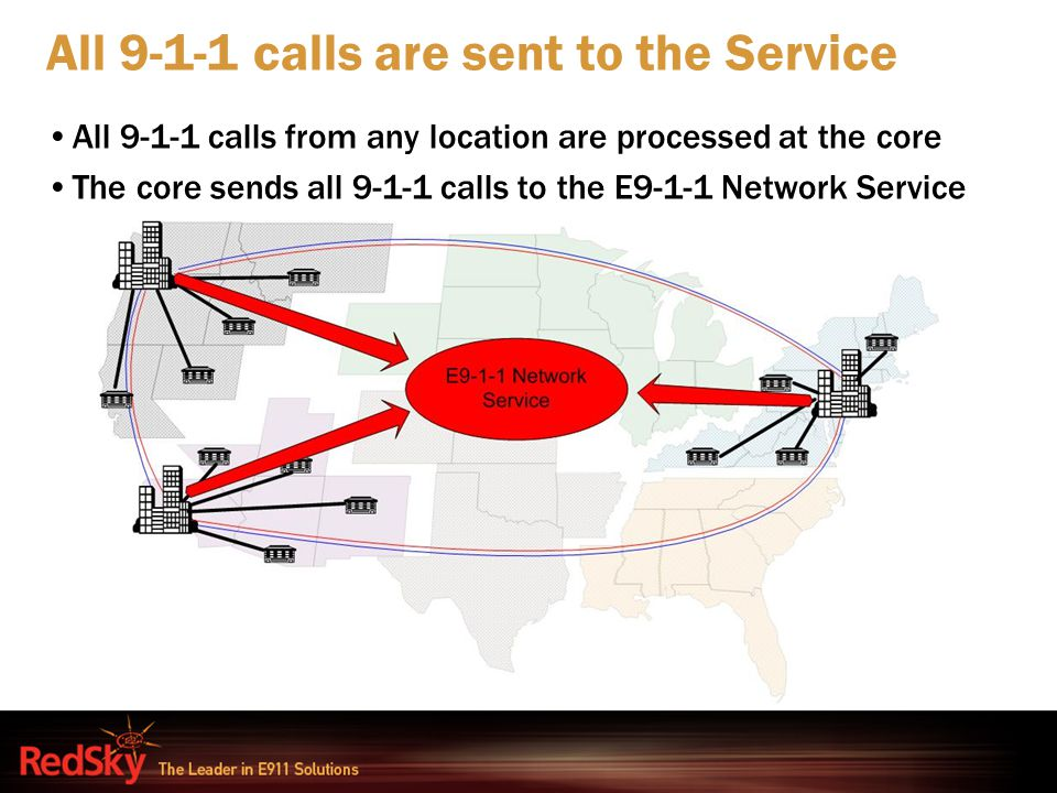 All 9-1-1 calls are sent to the Service