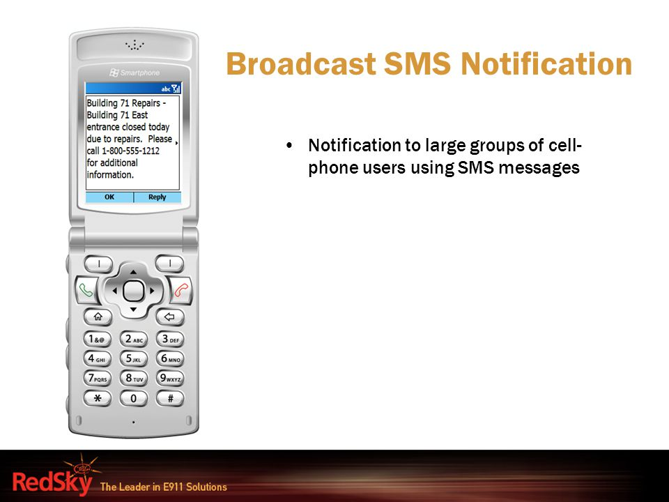Broadcast SMS Notification