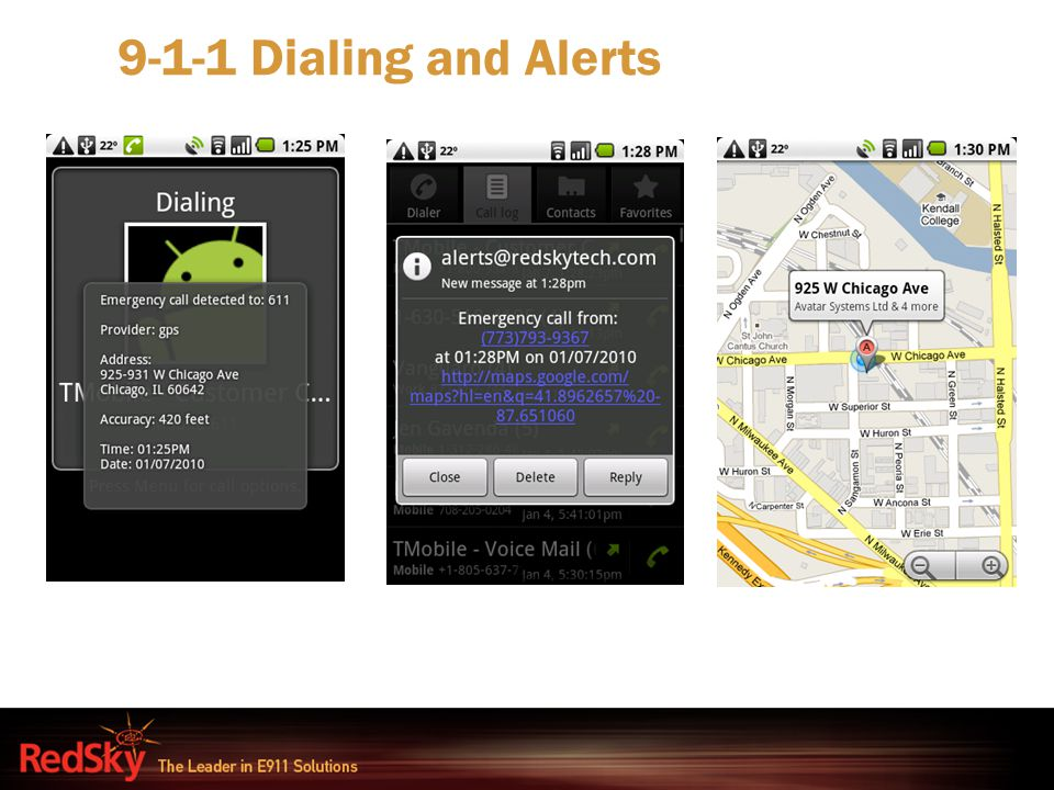 9-1-1 Dialing and Alerts
