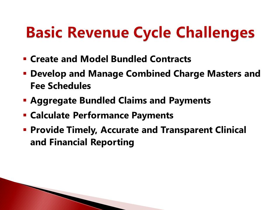 Basic Revenue Cycle Challenges