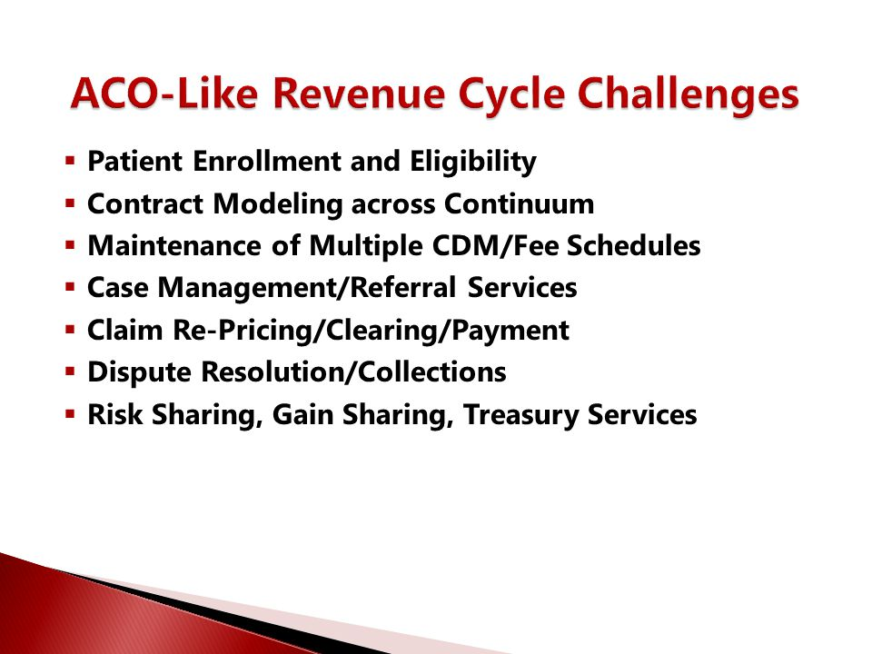 ACO-Like Revenue Cycle Challenges