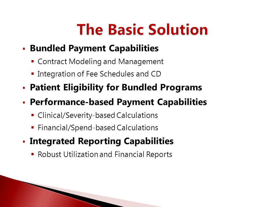 The Basic Solution Bundled Payment Capabilities