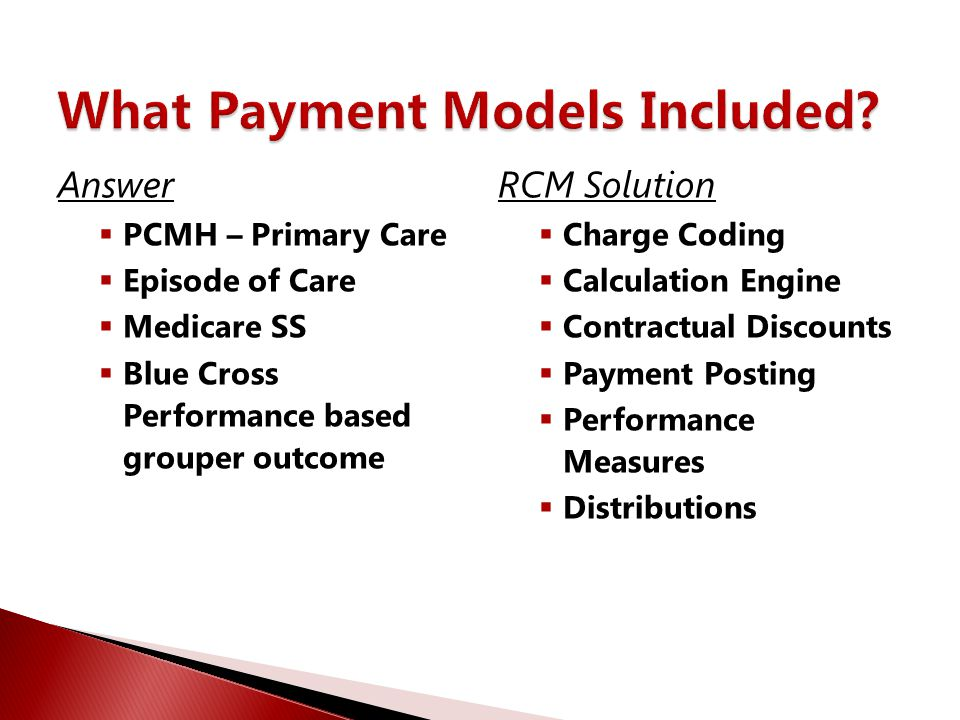 What Payment Models Included
