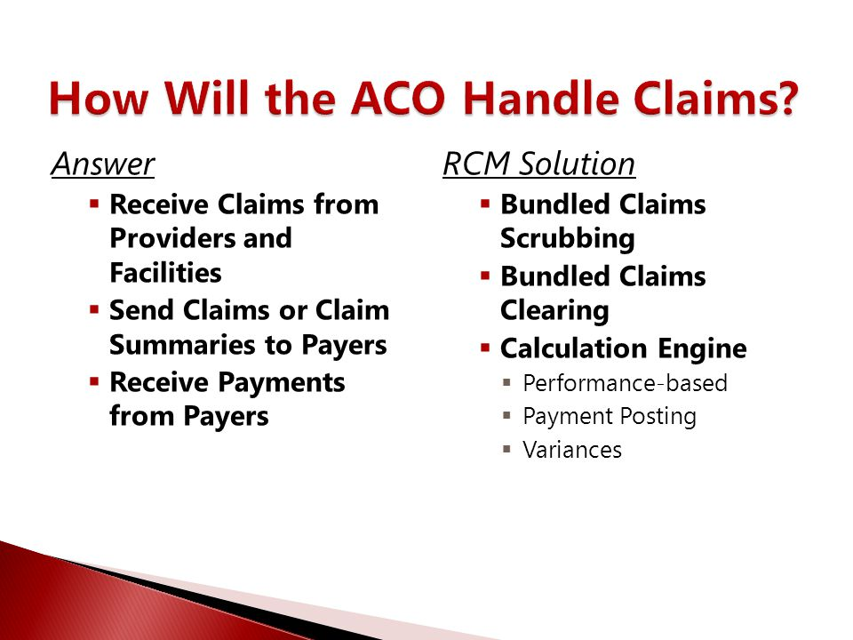 How Will the ACO Handle Claims