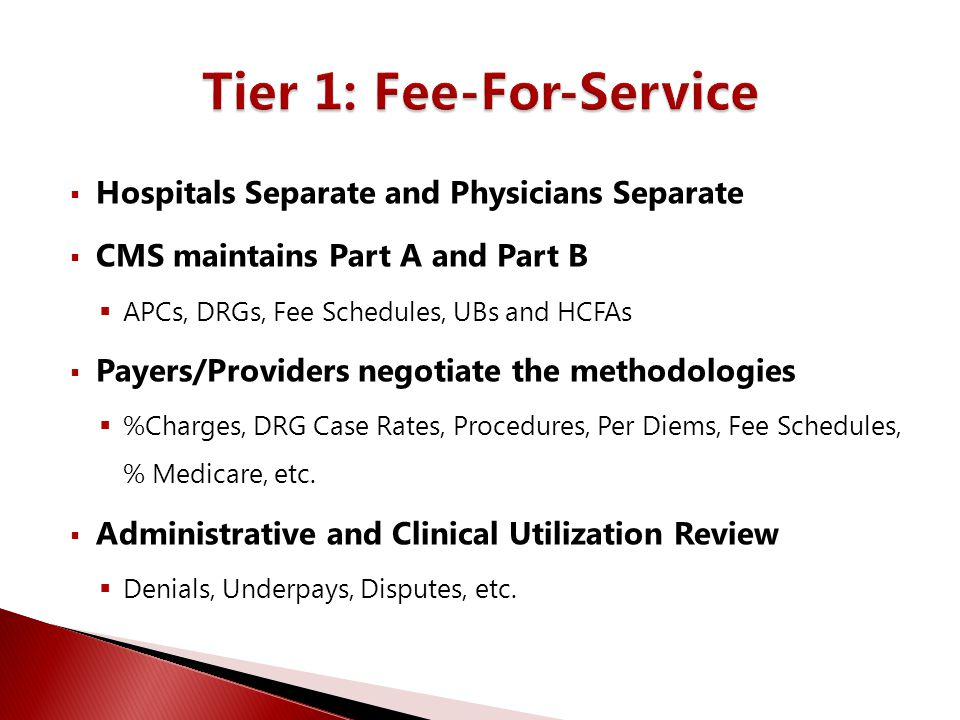 Tier 1: Fee-For-Service