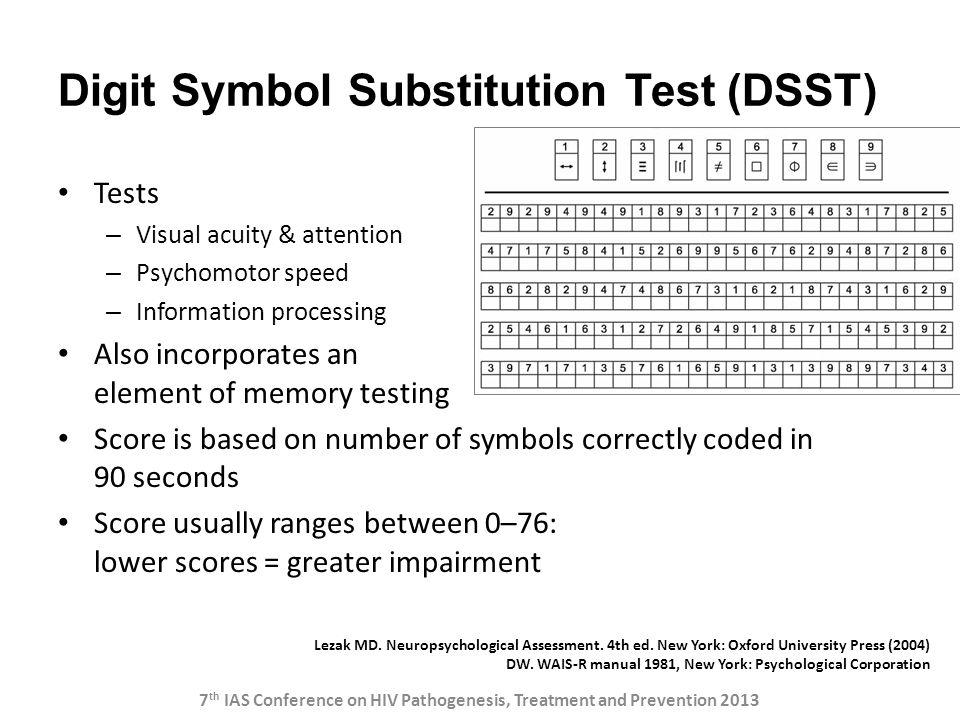 Digit Symbol Substitution Test (DSST)