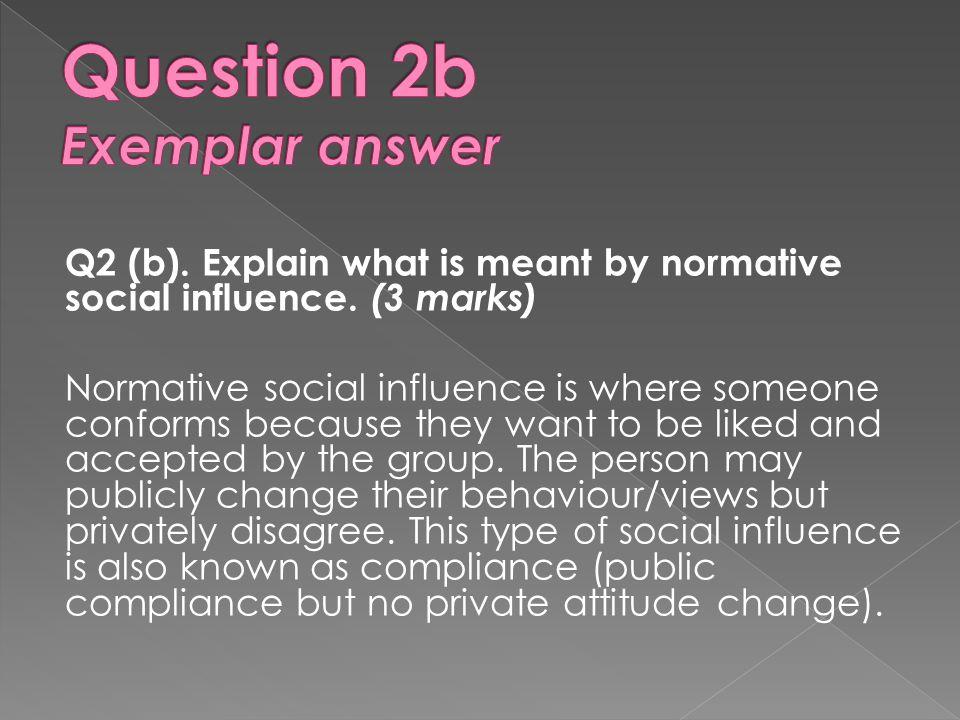 Question 2b Exemplar answer