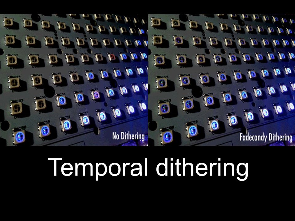 Temporal dithering
