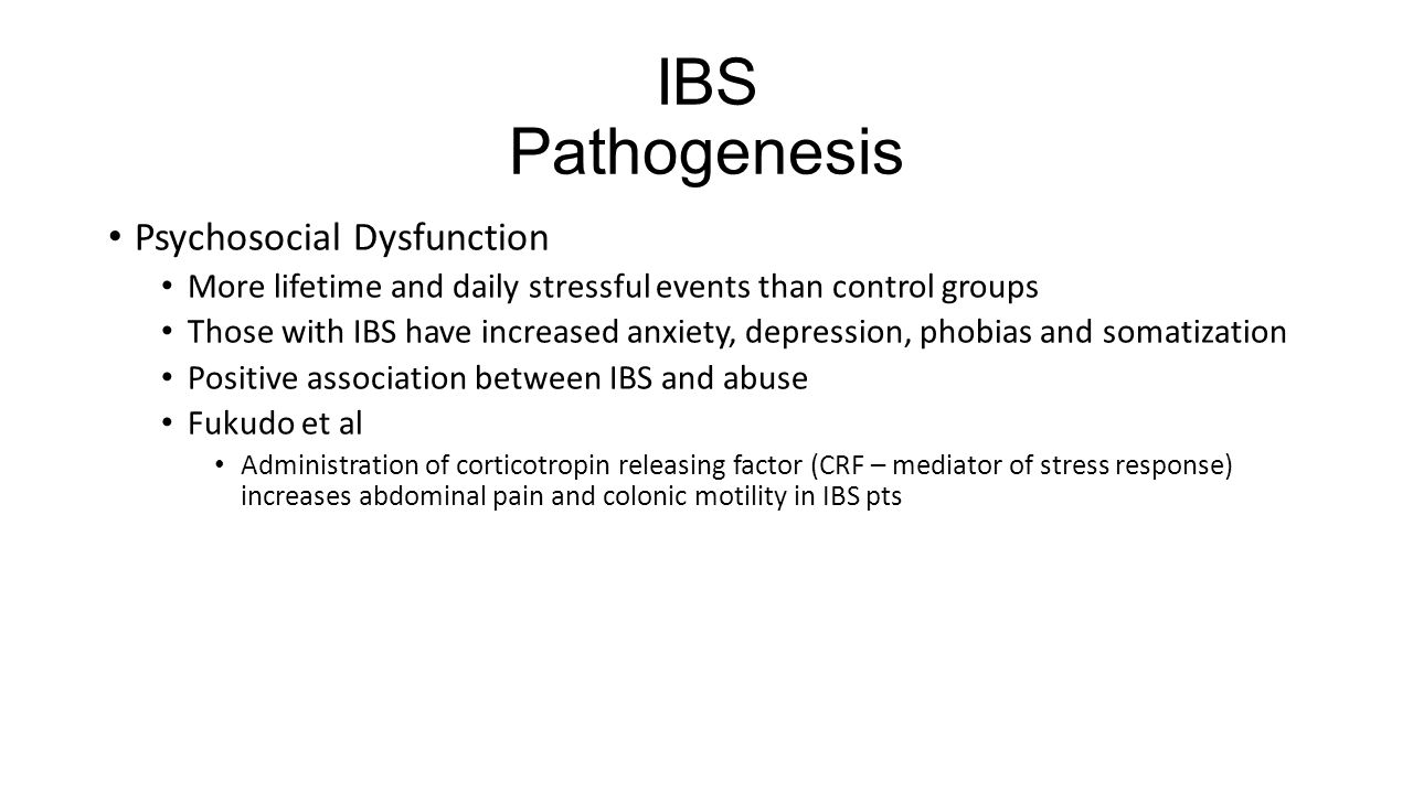 IBS Pathogenesis Psychosocial Dysfunction