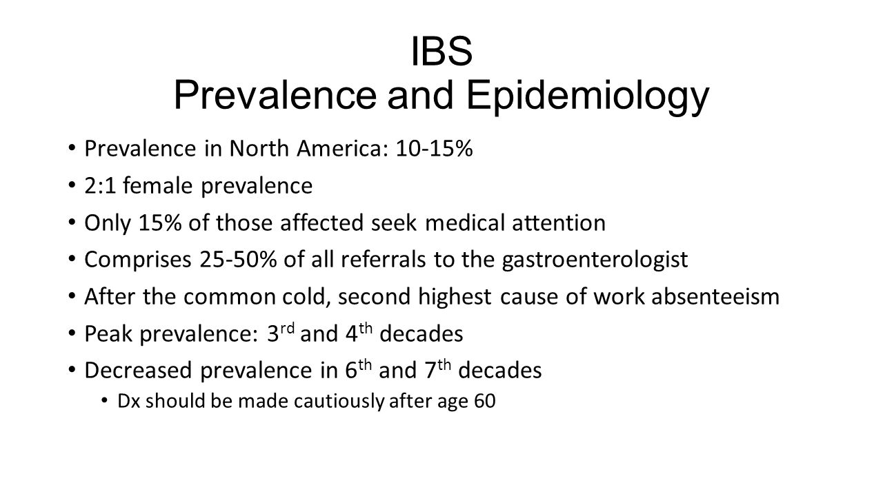 IBS Prevalence and Epidemiology