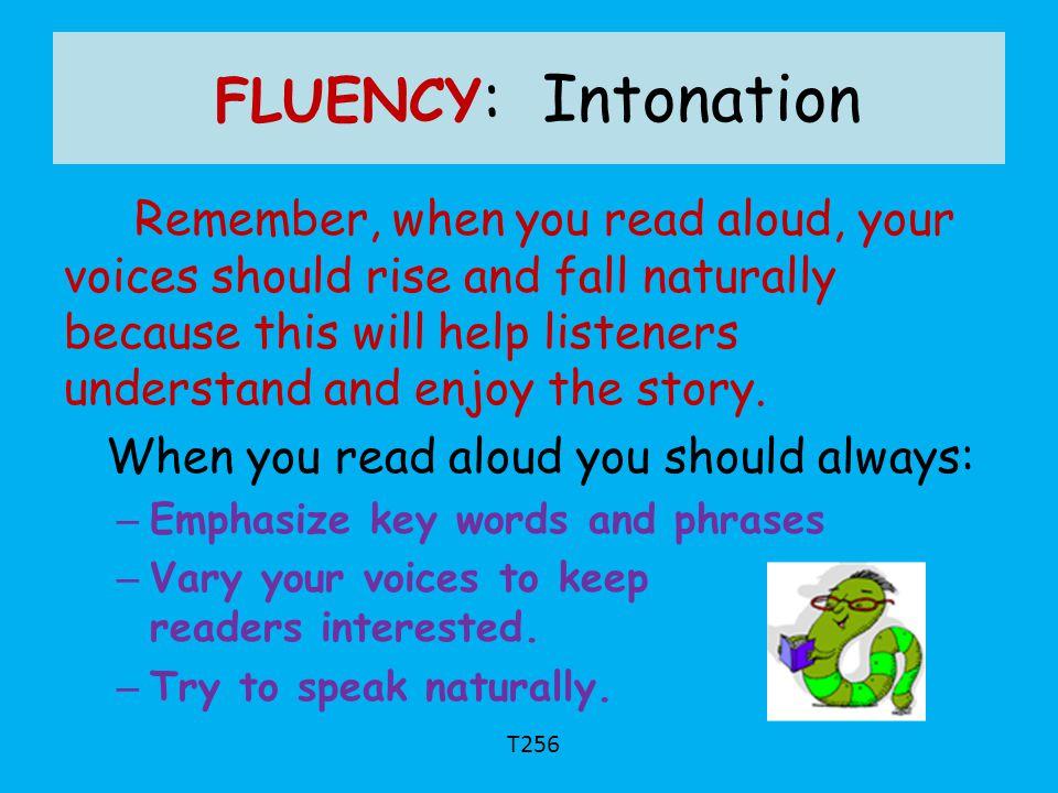 FLUENCY: Intonation
